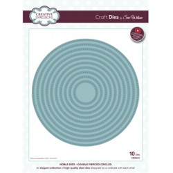 (CED5513)Craft Dies - Double Pierced Circles