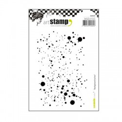 (SA60207)Carabelle cling stamp A6 background avec des taches