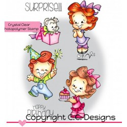 (RB1118)C.C. Designs Stamp clear Roberto's Rascals Surprise