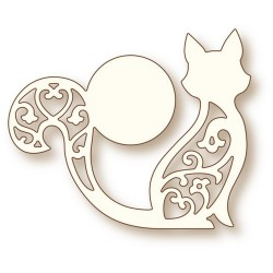(SD0070)Wild Rose Studio`s Specialty die - Cat and Moon