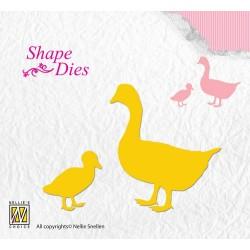 (SD110)Nellie's Shape Dies geese