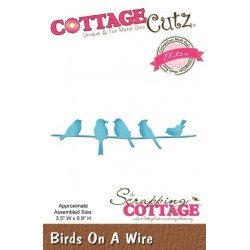 (CCE-409)Scrapping Cottage CottageCutz Birds On A Wire
