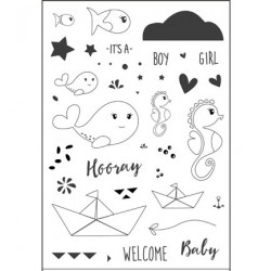 CUT-IES stamp clear Ocean Babies