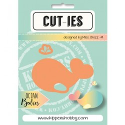 Dies Cut-ies Ocean Babies - Whale-Spray