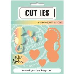 Dies Cut-ies Ocean Babies - Seahorse-Hearts