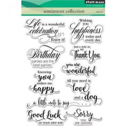 (30-350)Penny Black Stamp clear Sentiment collection