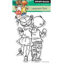 (30-328)Penny Black Stamp clear Summer love