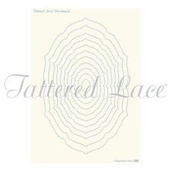 (PLG008)Parchment Lace Parchment Grid 8 Essentials Decorative Ov