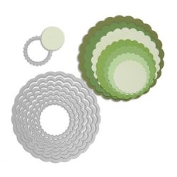 (657552)Framelits Die Set circles scallop