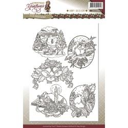 (ADCS10008)Clearstamp - Amy Design - Christmas Greetings