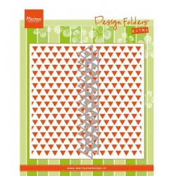 (DF3428)Marianne Design Embossing folder Triangles