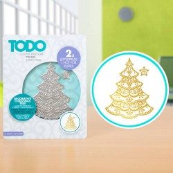 (20990)TODO Hot Foil Press Decorative Christmas Tree
