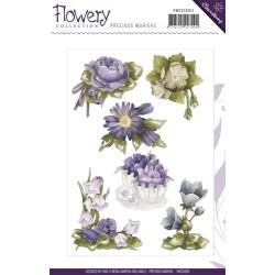 (PMCS10011)Clearstamp - Precious Marieke - Flowery