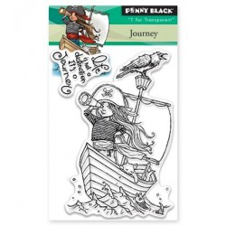 (30-367)Penny Black Stamp clear Journey