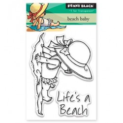 (30-369)Penny Black Stamp clear Beach baby