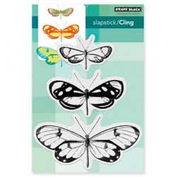 (40-473)Penny Black Stamp Butterfly Trio