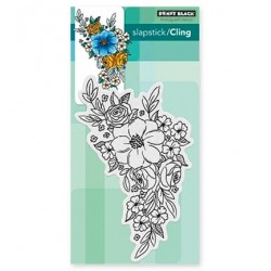 (40-466)Penny Black Stamp Flower Cascae