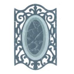 (657557)Framelits Die Frame oval w/ironwork edge