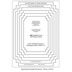 (TP7507EC)PCA® EasyCut Rectangular Deco Frames - XL