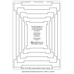 (TP7510EC)PCA® EasyCut Block Corner Frames - XL