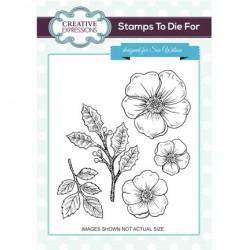 (UMS728)Stamps To Die For - Christmas Rose