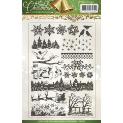(PMCS10012)Clearstamp - Precious Marieke - Spirit of Christmas