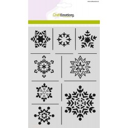 (1237)CraftEmotions Mask stencil - ice crystals  A5