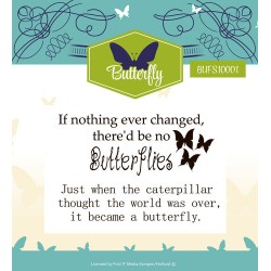 (YCCS10024)Clearstamp - Yvonne Creations - Butterfly