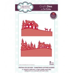 (CED3083)Craft Dies - Christmas Cottage Scenes