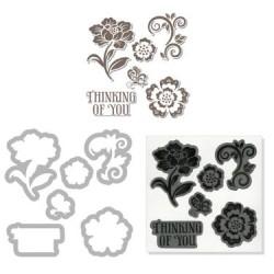 (657776)Framelits Die St H.A w/stamp floral