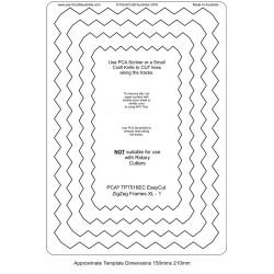 (TP7516EC)PCA® EasyCut ZigZag Frames 1 - XL