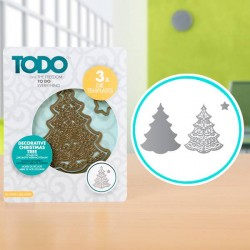 (370370)TODO Die Template Set Decorative Christmas Tree