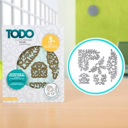 (370364)TODO Die Template Set Snowflake and Foliage Borders