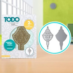 (370360)TODO Die Template Set Chandelier Bauble