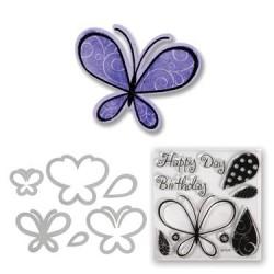 (657578)Framelits Die Set w/stamp butterflies