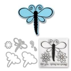 (657579)Framelits Die Set w/stamp dragonflies