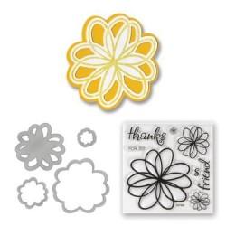 (657580)Framelits Die Set w/stamp flow. doodle
