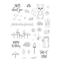 CUT-IES stamp clear Forest Fellows Autumn