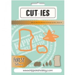 Dies Cut-ies Forest Fellows Tree Leaves Ladybug