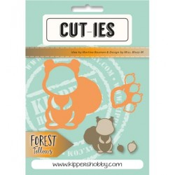 Dies Cut-ies Forest Fellows Squirrel Acorn