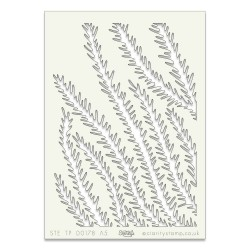 (STE-TR-00178-A5)Claritystamp Art Stencil A5 Pine Needle
