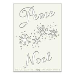 (STE-CH-00219-A5)Claritystamp Art Stencil A5 Peace Noel & Snowfl
