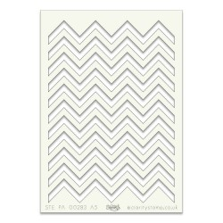 (STE-PA-00283-A5)Claritystamp Art Stencil A5 Zig Zag