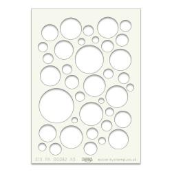 (STE-PA-00282-A5)Claritystamp Art Stencil A5 Bubbles
