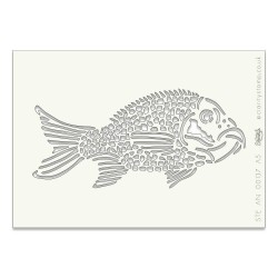 (STE-AN-00265-A5)Claritystamp Art Stencil A5 Fish