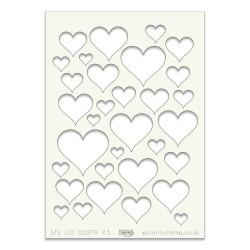 (STE-PA-00279-A5)Claritystamp Art Stencil A5 Hearts
