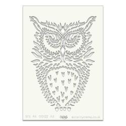 (STE-BI-00122-A5)Claritystamp Art Stencil A5 Owl