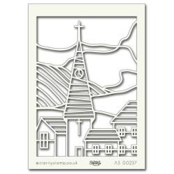 (STE-FL-00106-A5)Claritystamp Art Stencil A5 Japanese Reeds