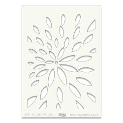 (STE-FL-00129-A5)Claritystamp Art Stencil A5 Petal