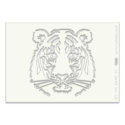 (STE-AN-00192-A5)Claritystamp Art Stencil A5 Tiger